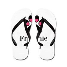 Frenchie Mom Paw Print Flip Flops