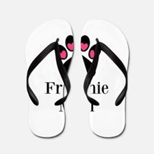 Frenchie Mom Paw Print Flip Flops