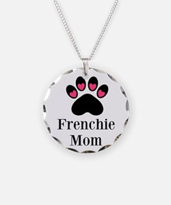 Frenchie Mom Paw Print Necklace