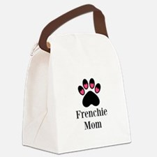 Frenchie Mom Paw Print Canvas Lunch Bag