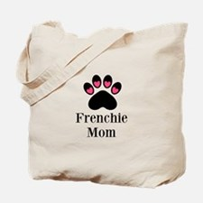 Frenchie Mom Paw Print Tote Bag