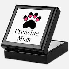 Frenchie Mom Paw Print Keepsake Box