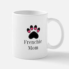 Frenchie Mom Paw Print Mugs