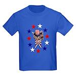 Independence Day Kitten Kids Dark T-Shirt