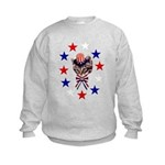 Independence Day Kitten Kids Sweatshirt