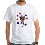 Independence Day Kitten White T-Shirt