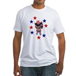 Independence Day Kitten Fitted T-Shirt