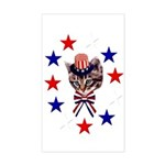 Independence Day Kitten Rectangle Sticker