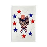 Independence Day Kitten Rectangle Magnet