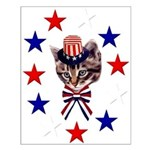 Independence Day Kitten Small Poster