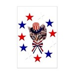 Independence Day Kitten Mini Poster Print