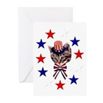 Independence Day Kitten Greeting Cards (Package of