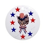 Independence Day Kitten Ornament (Round)