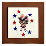 Independence Day Kitten Framed Tile