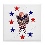 Independence Day Kitten Tile Coaster