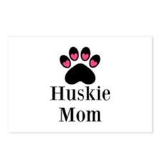 Huskie Mom Paw Print Postcards (Package of 8)
