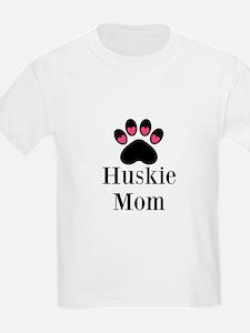 Huskie Mom Paw Print T-Shirt