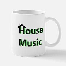 House Music Green Mugs