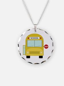 School Bus Necklace