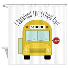 I Survied The School Bus Shower Curtain