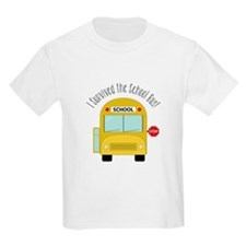 I Survied The School Bus T-Shirt