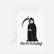 Why Are You Running? Greeting Cards