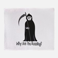 Why Are You Running? Throw Blanket