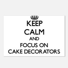 Funny Cake decorator Postcards (Package of 8)
