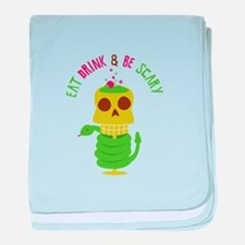 Eat Drink& Be Scary baby blanket