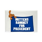 Mittens Romney for Precedent Rectangle Magnet (10
