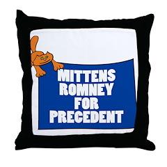 Mittens Romney for Precedent Throw Pillow