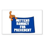 Mittens Romney for Precedent Rectangle Sticker