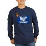Mittens Romney for Precedent Long Sleeve Dark T-Sh