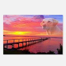Blond Labrador Retriever Postcards (Package of 8)