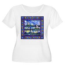 Purple and Blue Quilt Plus Size T-Shirt