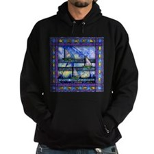 Purple and Blue Quilt Hoodie