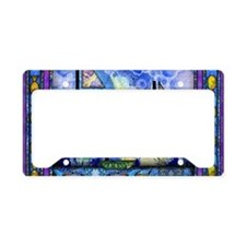 Purple and Blue Quilt License Plate Holder