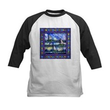 Purple and Blue Quilt Baseball Jersey