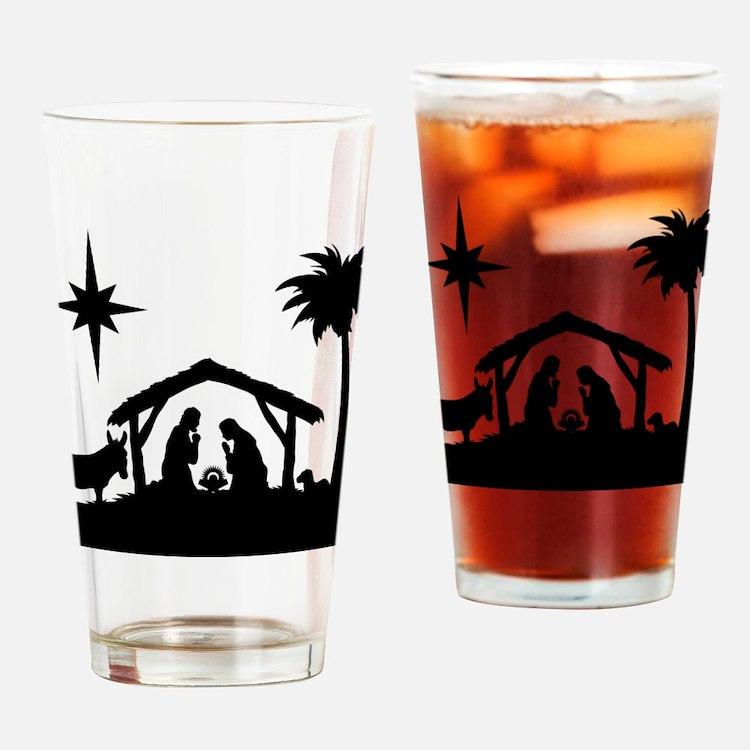 Nativity Scene Drinking Glass