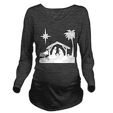 Nativity Scene Long Sleeve Maternity T-Shirt