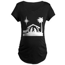 Nativity Scene Maternity T-Shirt