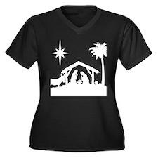 Nativity Scene Plus Size T-Shirt