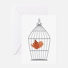Bird Cage Greeting Cards