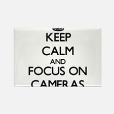 Keep Calm and focus on Cameras Magnets