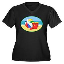 Beach, Sand Pail and Ball Plus Size T-Shirt
