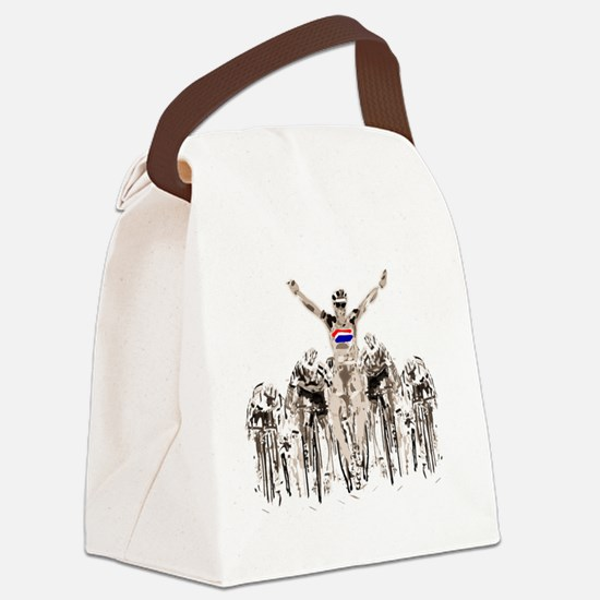 Cool Cyclist Canvas Lunch Bag
