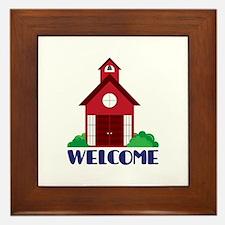 School Welcome Framed Tile