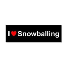 Snowballing Car Magnet 10 x 3