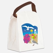 Cool Umbrella Canvas Lunch Bag