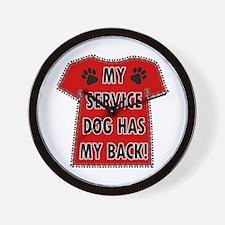 SERVICE HAS BACK Wall Clock